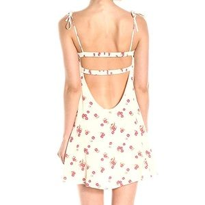 For Love and Lemons Cherry Tank Dress-Creme Shell